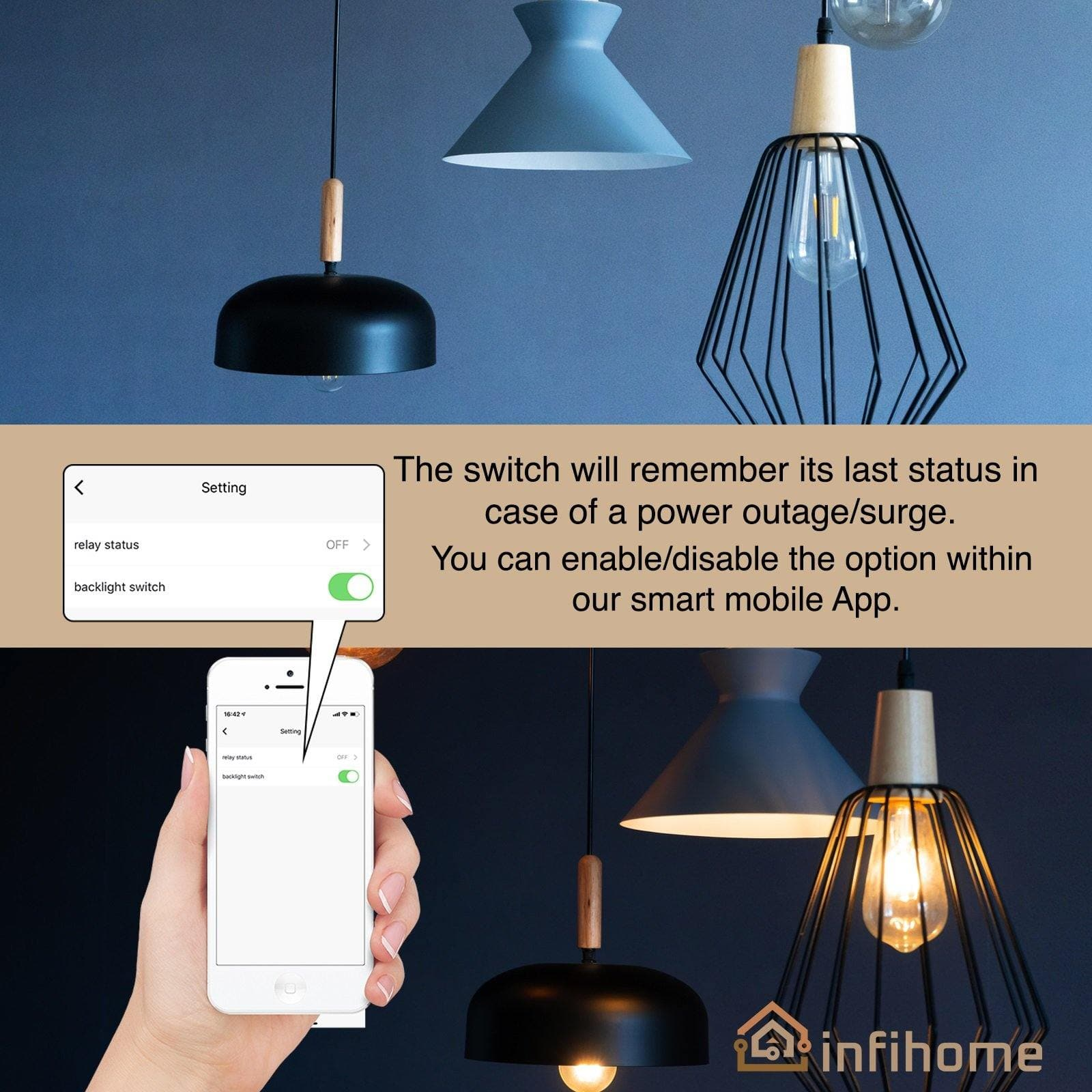 SMART LIGHT SWITCH W/ TOUCH GLASS (US WHITE, 1 2 OR 3 BUTTON) - InfiHome