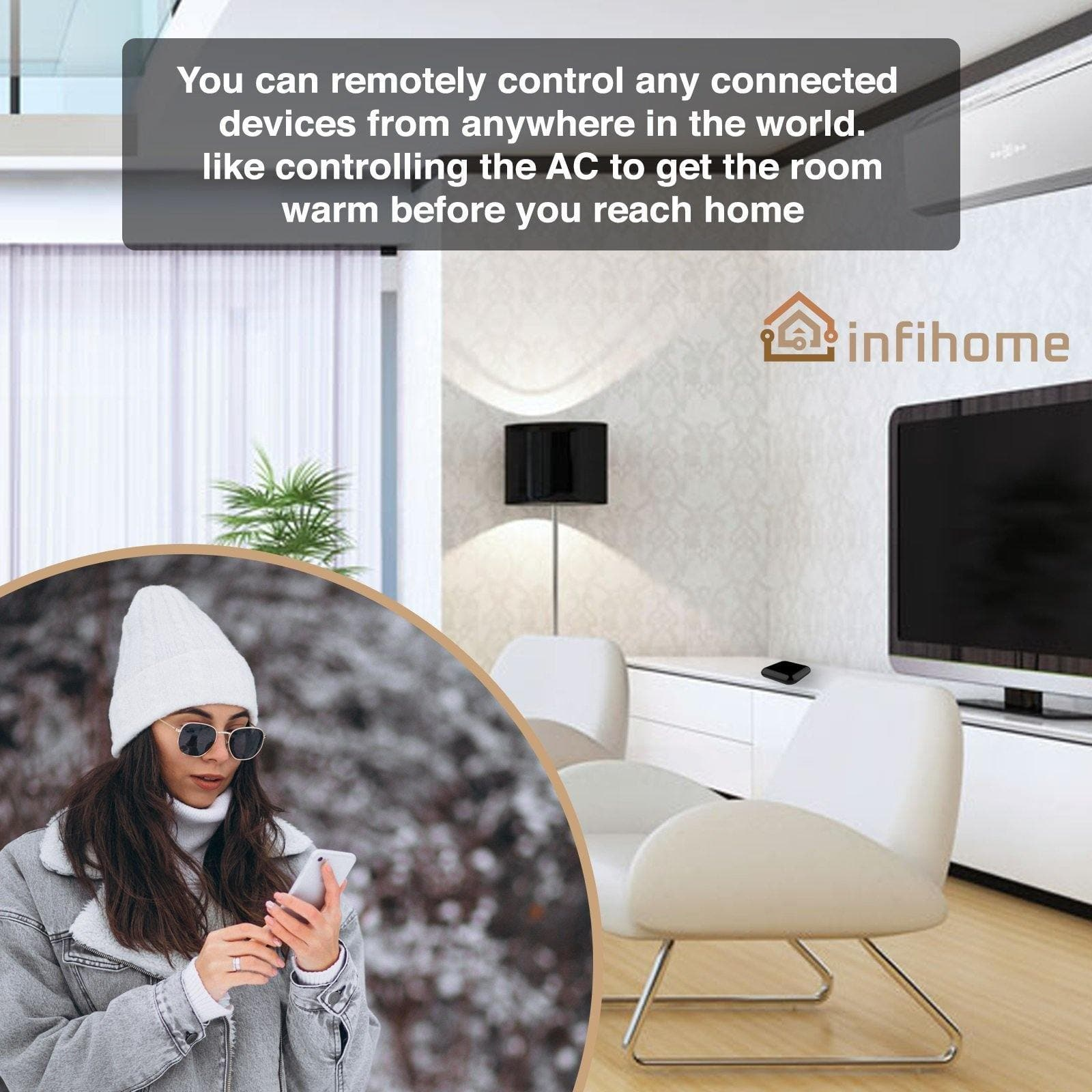 WiFi RF IR Blaster Universal Remote Controller - InfiHome