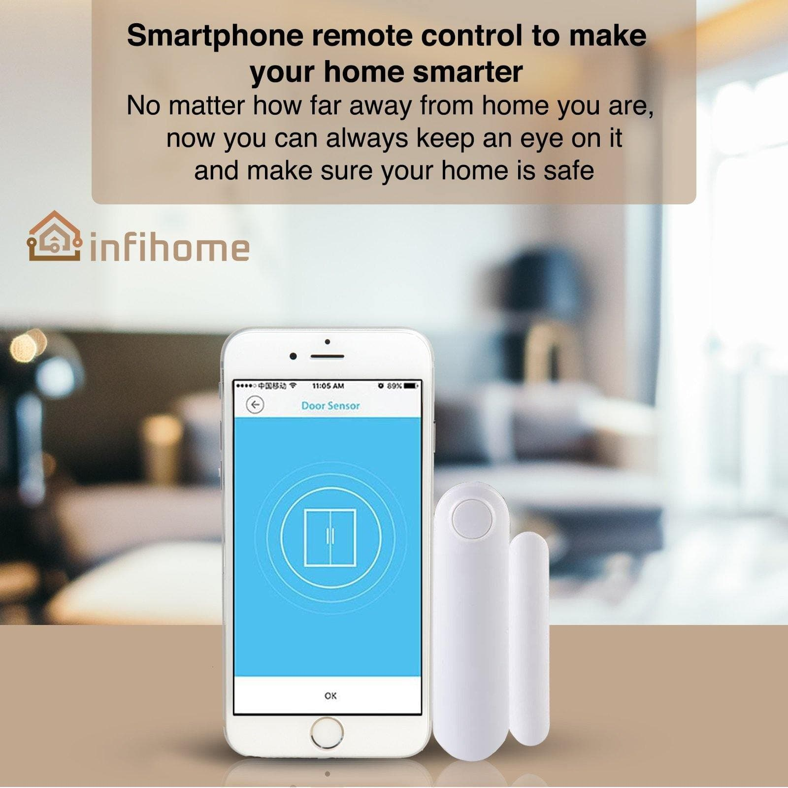 WiFi Smart Door, Smart Window Sensor - InfiHome