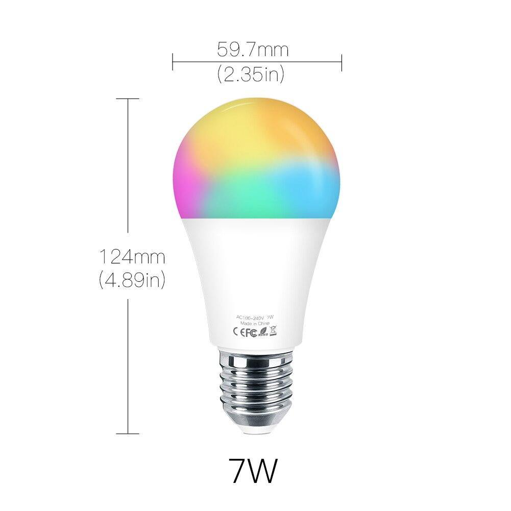 WiFi Smart LED Dimmable Lamp 7W RGB E27 - InfiHome