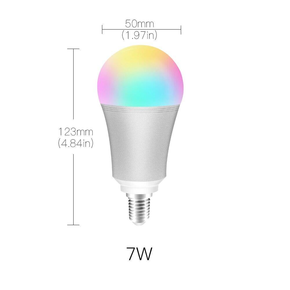 WiFi Smart Light Bulb RGB LED Lamp 7W E14 - InfiHome