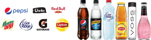 Schweppes Australia product line-ups with logos