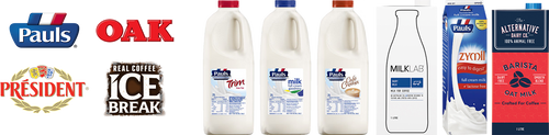 Lactalis product line-ups with logos