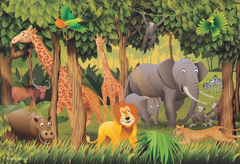 animal jungle kids wall paper nichemark rh nichemark com au