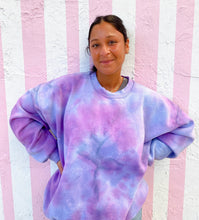 Load image into Gallery viewer, Orchid Swirl Tie Dye Crewneck - Youngwildandserene
