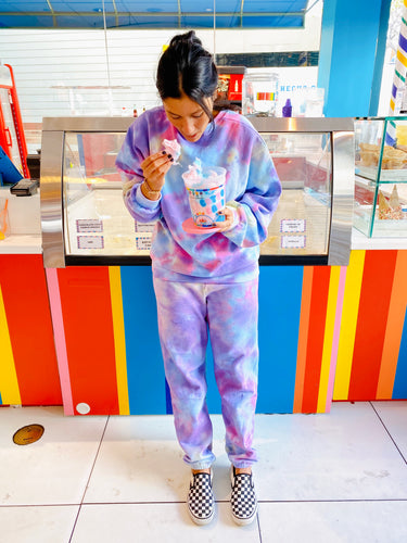Cotton Candy Tie Dye Loungewear Set - Youngwildandserene
