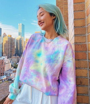 Open image in slideshow, Rainbow Unicorn Tie Dye Crewneck