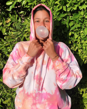 Open image in slideshow, Peach Sherbert Tie Dye Hoodie