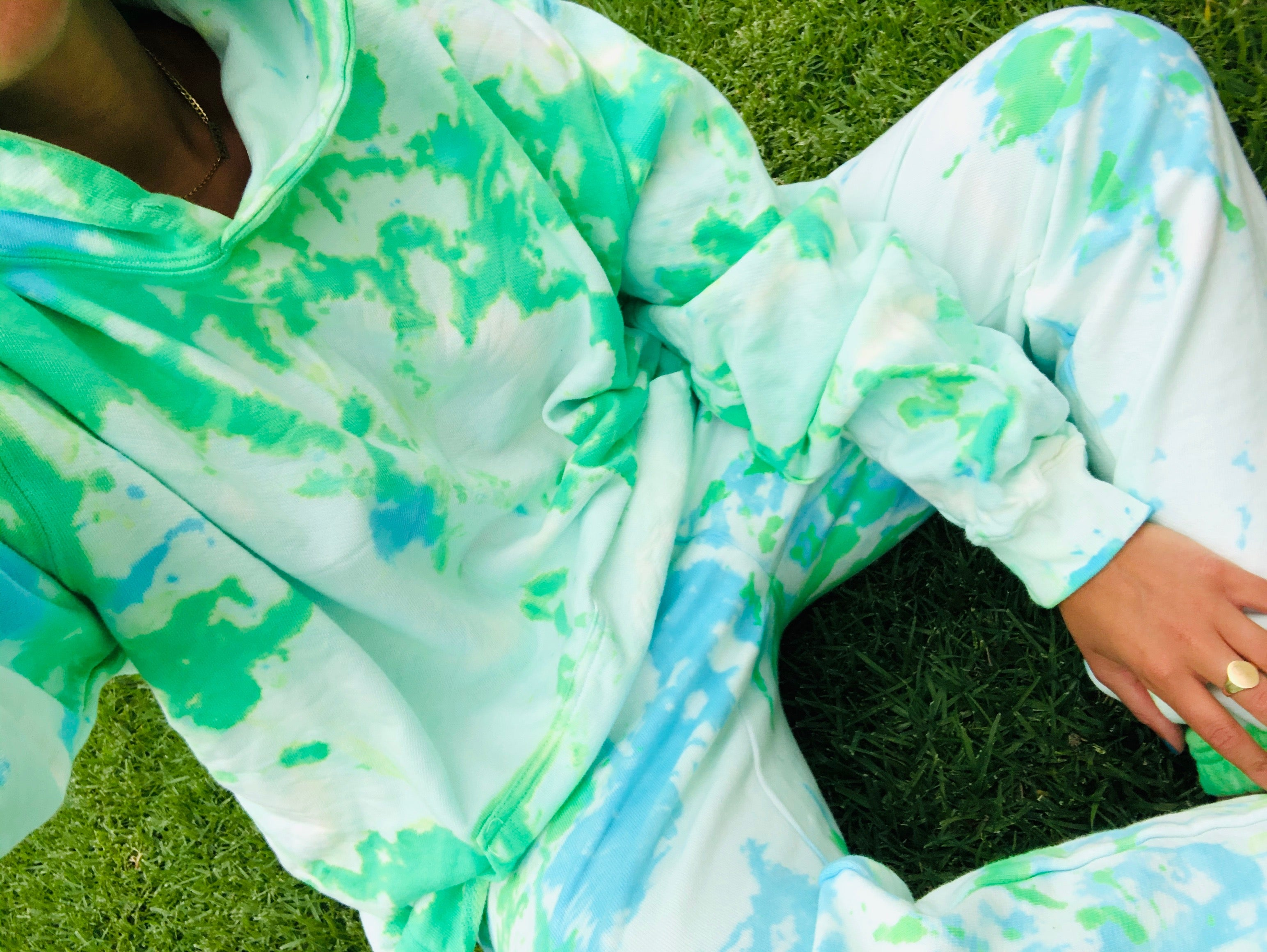 Key Lime Pie Tie Dye Loungewear Set