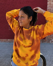Load image into Gallery viewer, Gold Crush Tie Dye Crewneck - Youngwildandserene