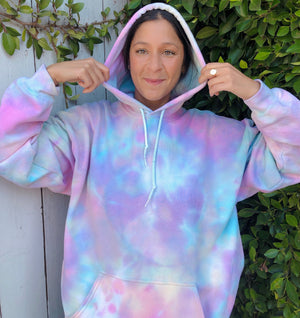 Open image in slideshow, Rainbow Unicorn Tie Dye Hoodie - Youngwildandserene