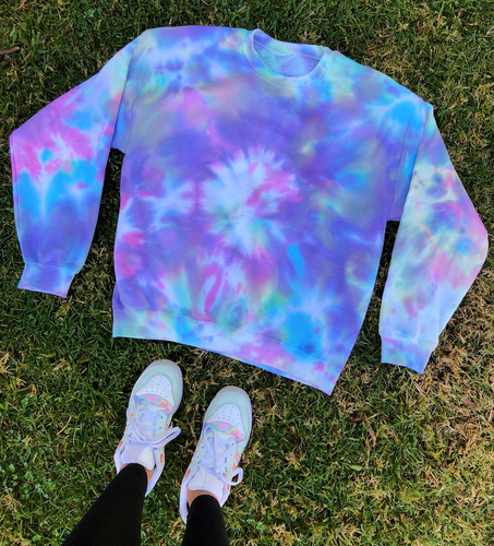Cotton Candy Tie Dye Crewneck - Youngwildandserene