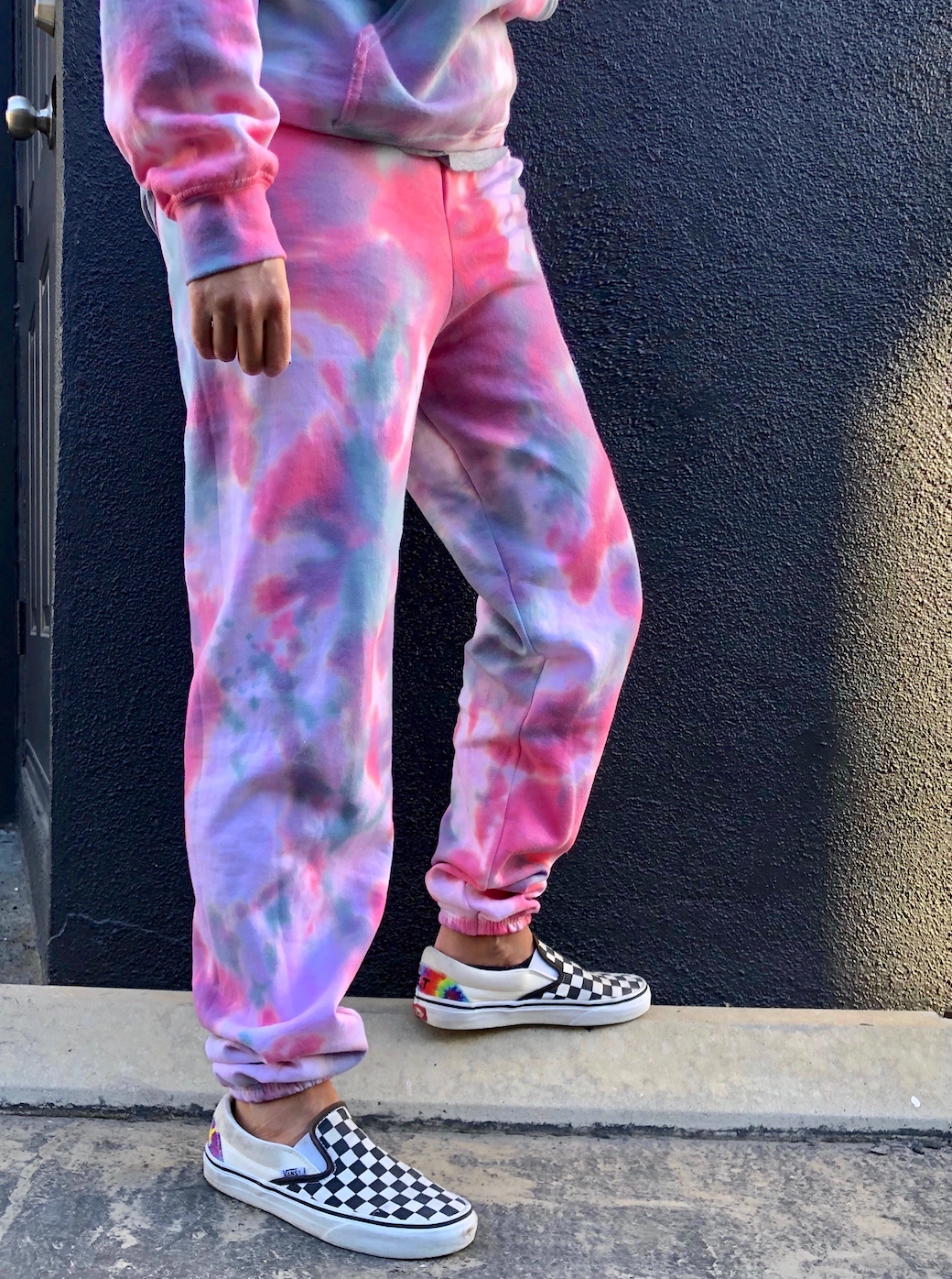 Green Amethyst Tie Dye Loungewear Set