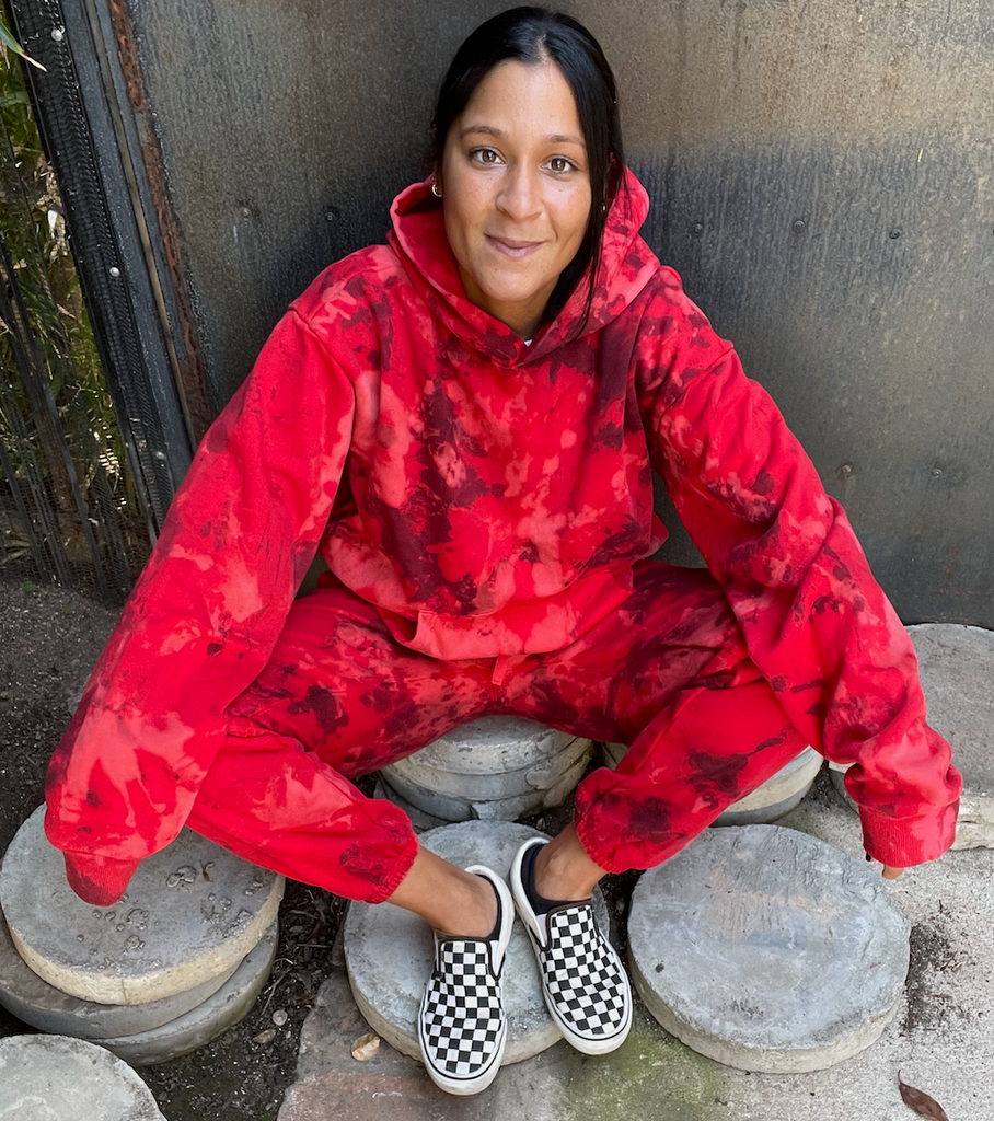 Crsytal Red Tie Dye Loungewear Set