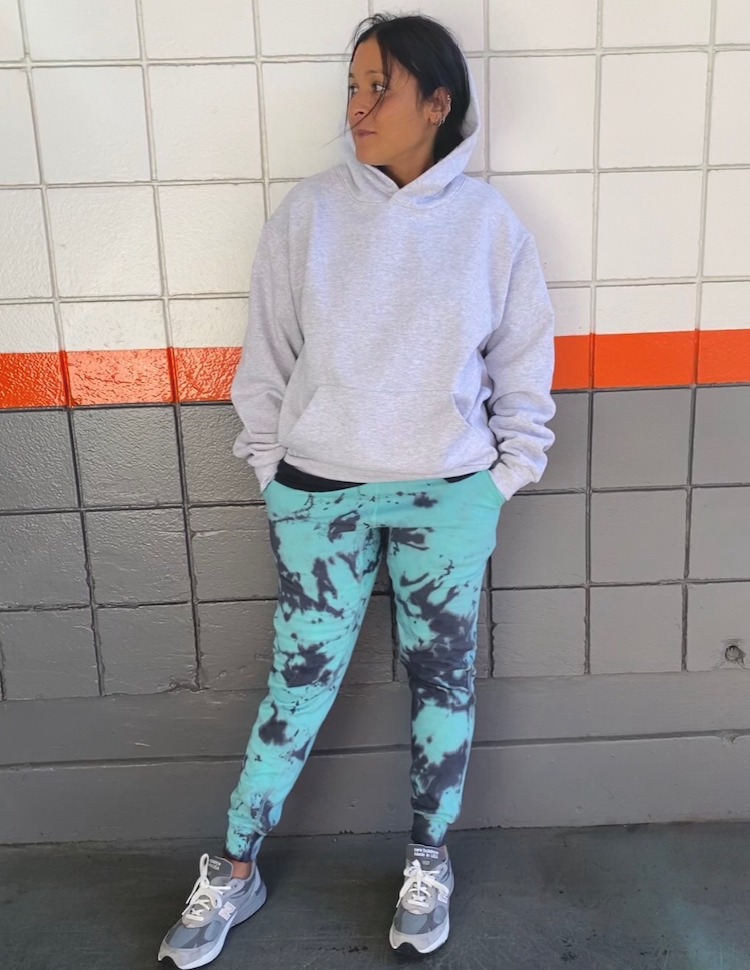 Grey and Blue Tie Dye Joggers