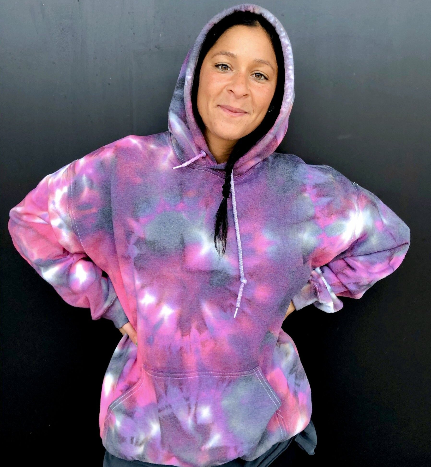 Purple Blackberry Tie Dye Hoodie - Youngwildandserene