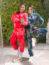 Load image into Gallery viewer, Red Twizzler Tie Dye Loungewear Set - Youngwildandserene