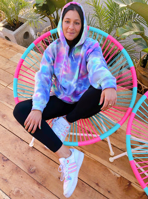 Open image in slideshow, Cotton Candy Tie Dye Hoodie