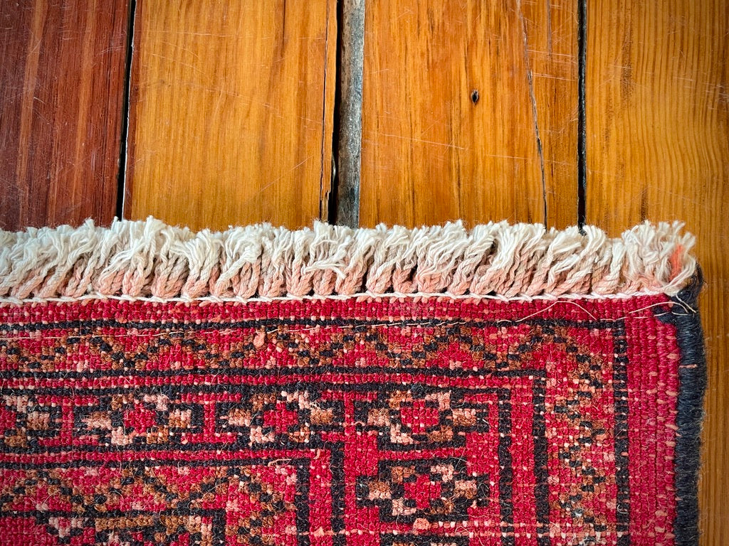 Geometric Red Small Turkish Carpet