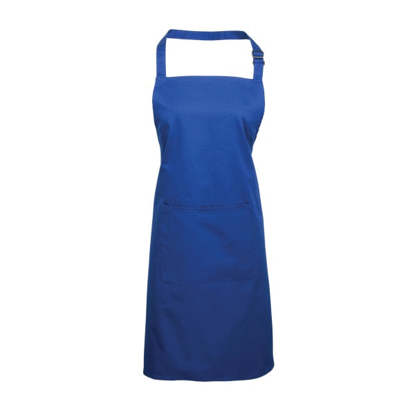 royal blue bib apron