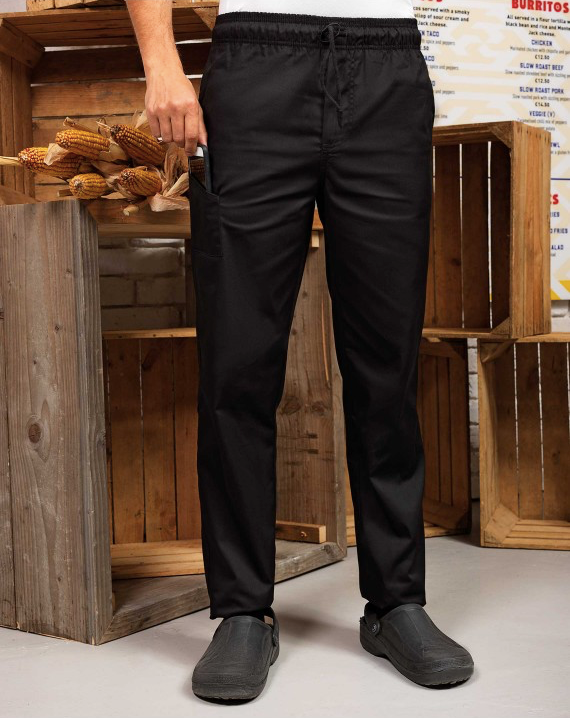 chef slim leg Black trousers
