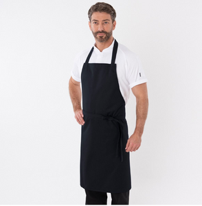 Dennys Adjustable Black Bib Apron