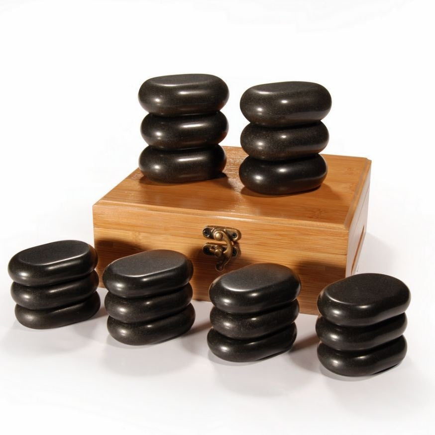 18 Piece Basalt Hot Stone Set