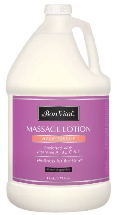 Bon Vital Deep Tissue Massage Lotion, 1 Gallon Bottle