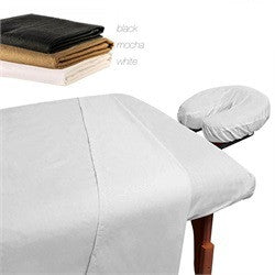 DELUXE 100% MICROFIBER FITTED SHEET SET - 3pc SHEETS