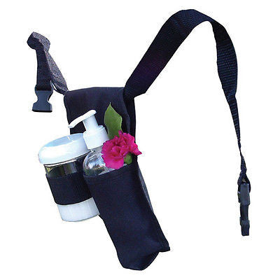 DOUBLE ADJUSTABLE MASSAGE OIL/LOTION HOLSTER - PUMP BOTTLE HOLDER FOR WAIST