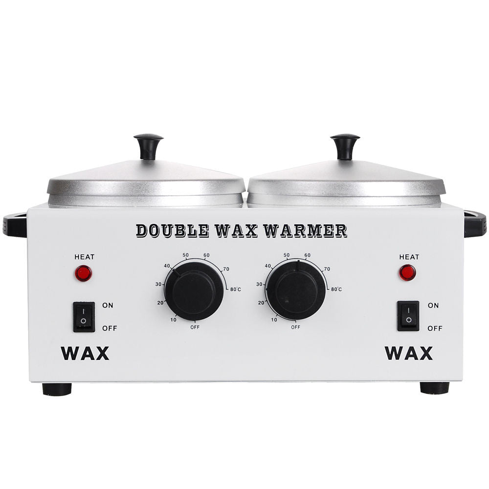 Double Pot Wax Warmer front view