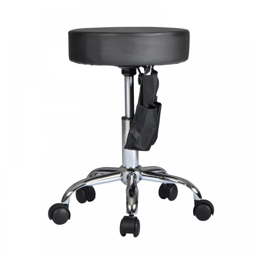 Hydraulic Rolling Stool - Black