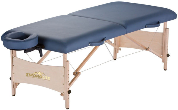 Stronglite Standard Portable Massage Table Package w/ Headrest Agate Blue