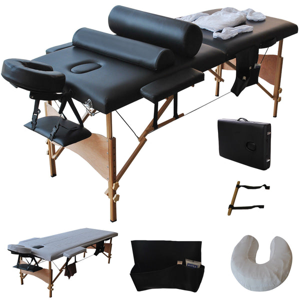 Business Starter Massage Table Package-Includes Sheets Black