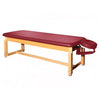 Deluxe PU leather stationery flat top massage table