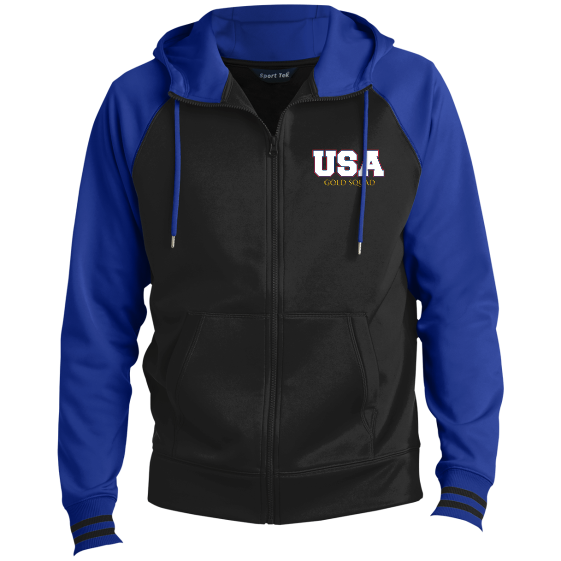 Mens USA Gold Squad Men's Sport-Wick® Full-Zip Hooded Jacket