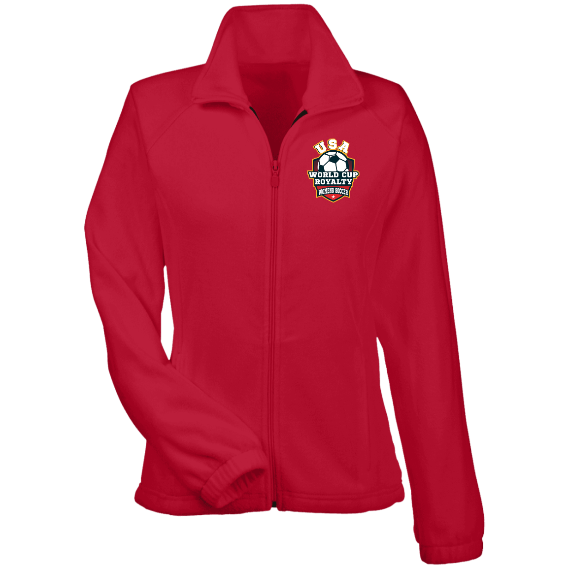 Ladies Fleece USA World Cup Royalty Soccer Jacket