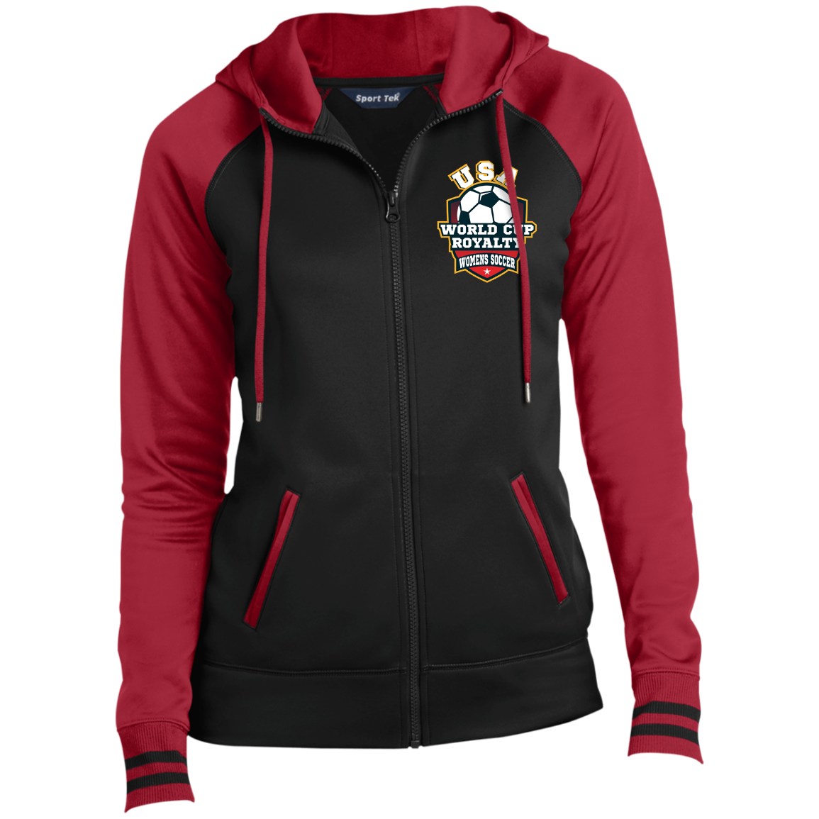 Ladies USA World Cup Royalty Soccer Moisture Wick Full-Zip Hooded Jacket