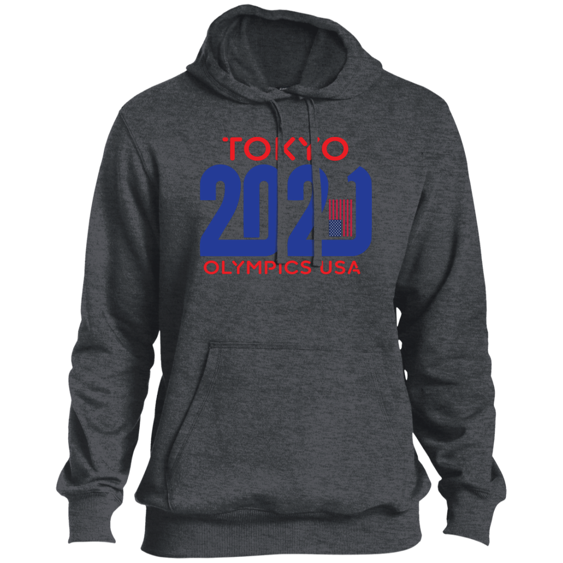 Mens Tokyo 2021 Olympics USA Tall Pullover Hoodie