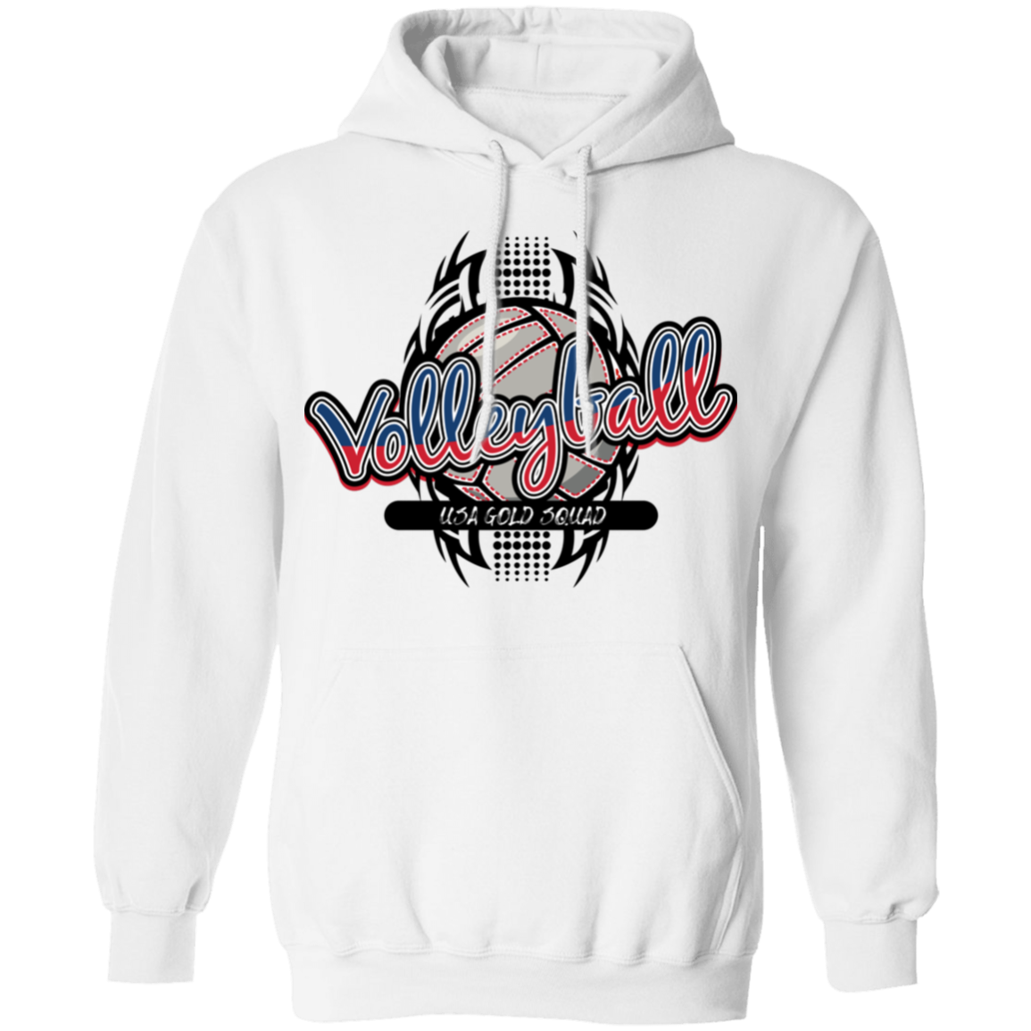 Ladies USA Gold Squad Volleyball Pullover Hoodie