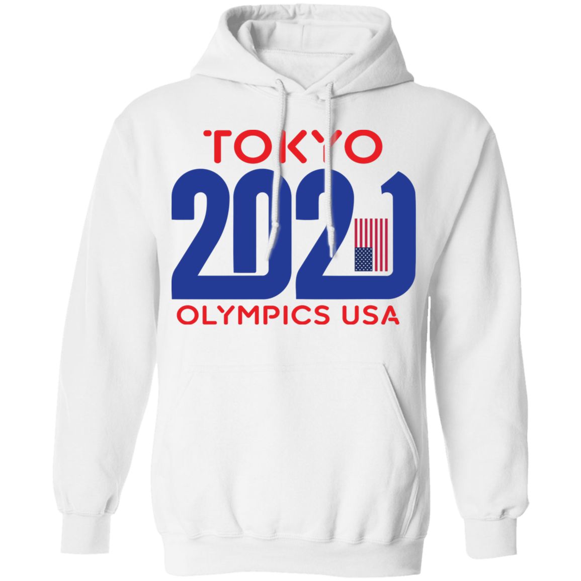 Mens Tokyo 2021 Olympics USA Pullover Hoodie