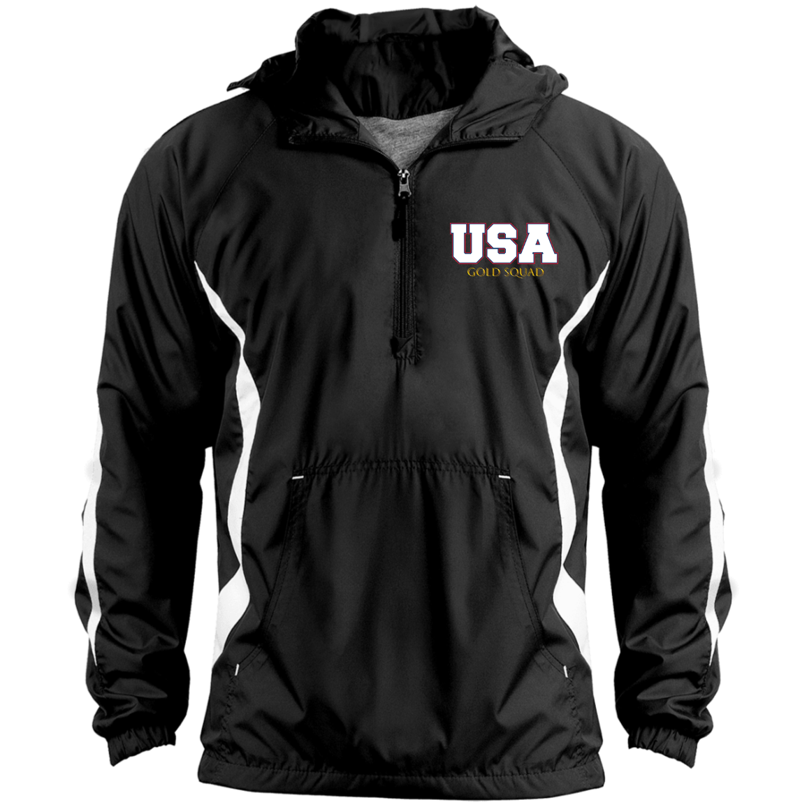 Mens USA Gold Squad Unisex Colorblock Raglan Anorak