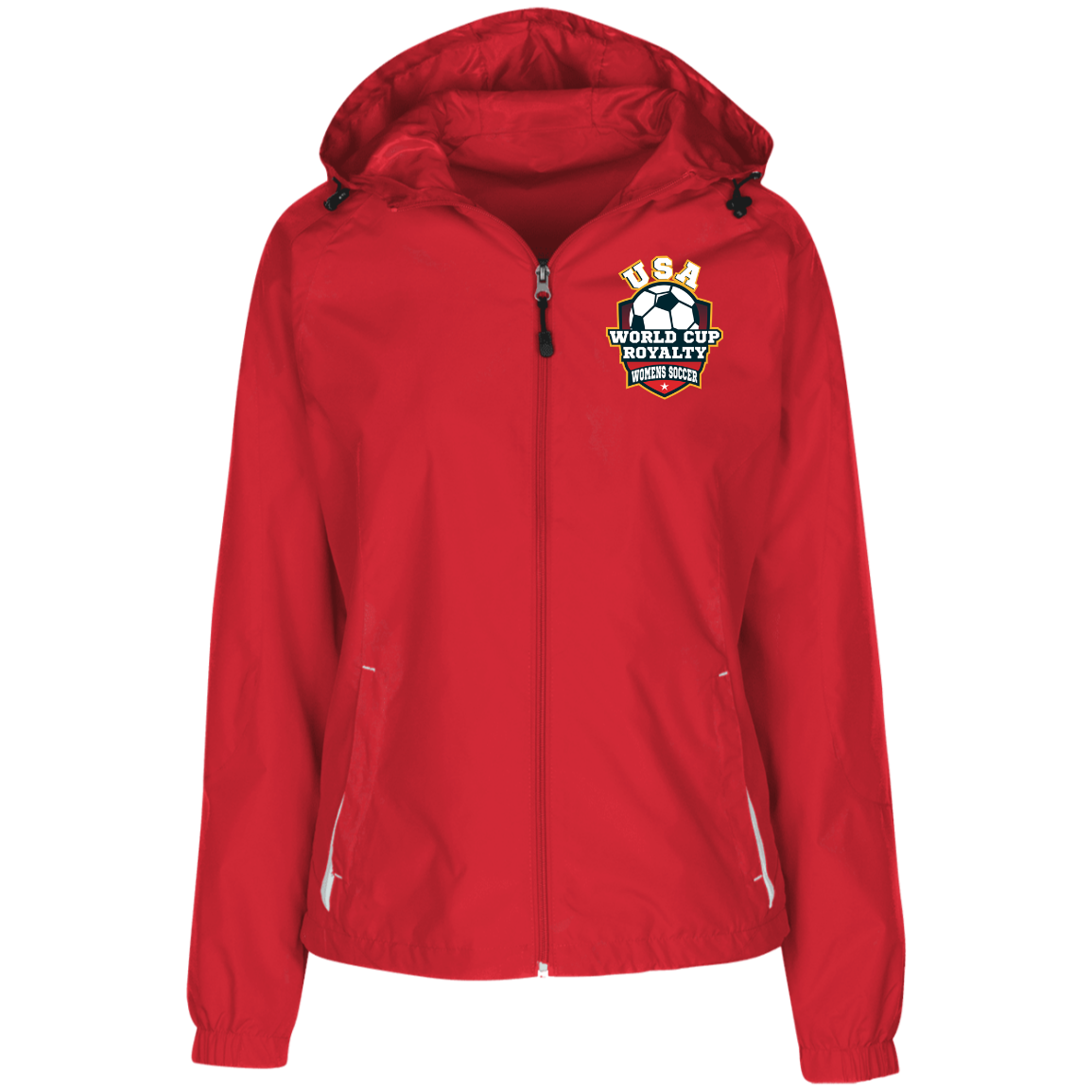 Ladies World Cup Royalty Soccer Jersey-Lined Hooded Windbreaker