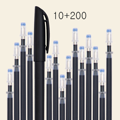210 Pcs/set Automatic Disappearing Refill Fading Cartridge Normal Temperature Ink Disappear Slowly Gel Pen Refill Ball Pen