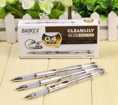 0.4 mm Gel Pen Carbon Black Ink business pen Fine Point PC1568 Neutral pen 3 pieces