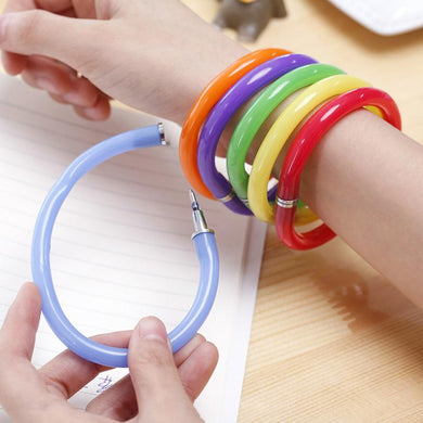 1-10pcs NEW Creative Flexible Ball Pen Cute Soft Bracelet Ballpoint Bangle Pen School Office Gifts Supplies Promotional Pen
