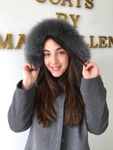 Load image into Gallery viewer, Elena Coat - 50% Cashmere & Wool Blend - Detachable Fox Hood