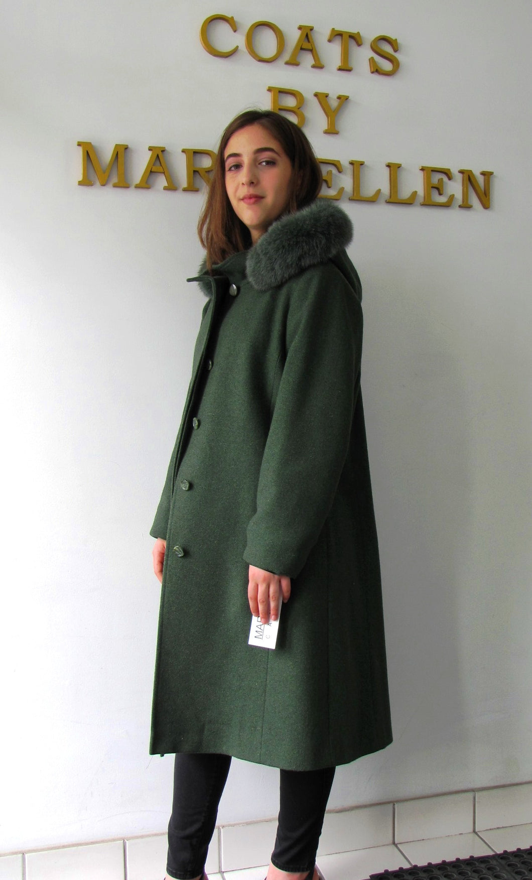 Elena Coat - 100% Merino Wool- Detachable Fox Hood