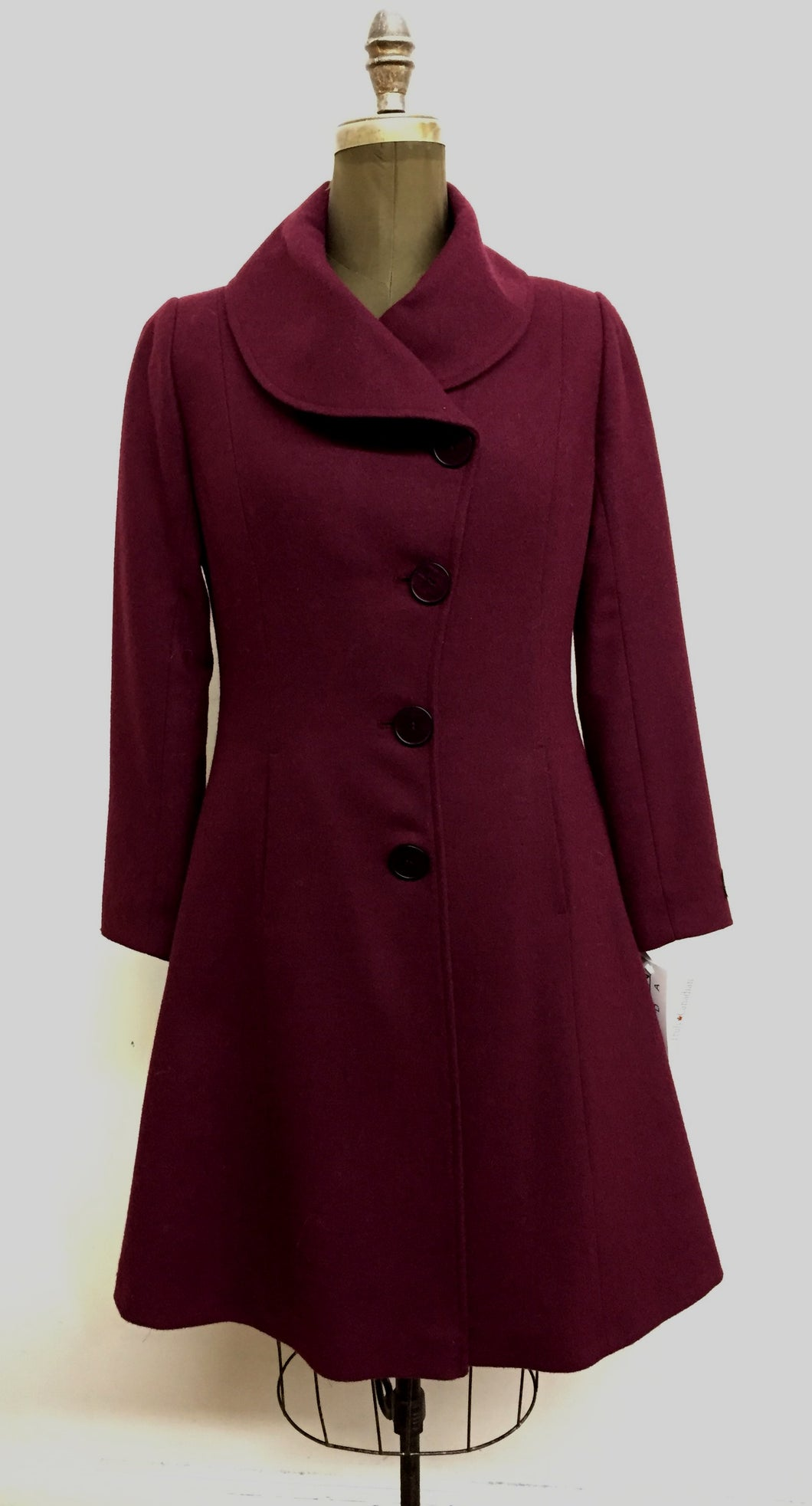 Elisabeth Fit & Flair Coat - 100% Pure Merino Wool