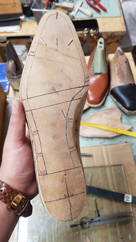their much smoother, more solid insole leather
